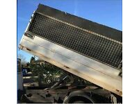 Aluminium tipping unit for tipper truck back dropsides and cage included