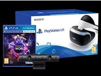 PS4 VR with VR Worlds (USED ONCE)