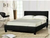 Prado low footend faux leather Kingsize bed.