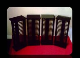 DVD STORAGE RACKS - (4) - FOR SALE