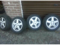 Toyota alloy wheels and tyres. Fits all Toyota cars