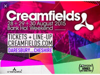 Creamfields 4 day silver camping ticket!!