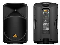 2 X New Behringer Eurolive B115MP3 1000W Active 2 Way 15inch Speaker System MP3 Player
