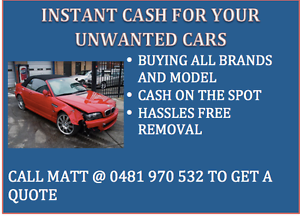 DAMAGED AND UNWANTED CARS. PAYING TOP DOLLAR AND FREE PICKUP Parramatta Parramatta Area Preview