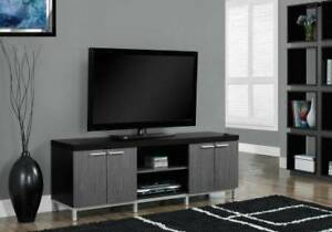 "TV STAND - 60""L / BLACK / GREY"