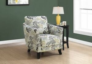 WEEKLY DEALS - ACCENT CHAIR - FLORAL FABRIC . Free delivery