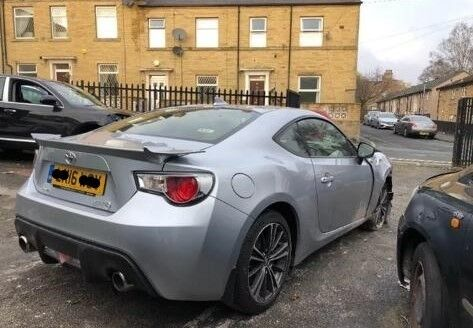 Toyota Gt86 2016 Damaged Repairable