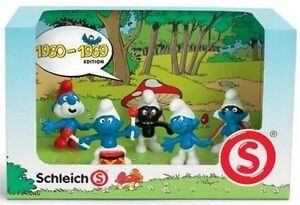 41255-Decade-1960s-Smurf-Set-NEW-Figurines-Papa-Black-Angry-Drummer-Spy-Figures