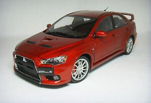 DIE CAST MODEL,DEALER 1:18 China MITSUBISHI LANCER EVO X by GSM,RHD,RED