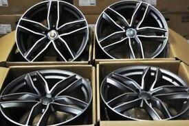 NEW 19'' AUDI RS6 STYLE ALLOY WHEELS X4 BOXED 5X112 A6 A7 A8 TT Q5 VW PASSAT