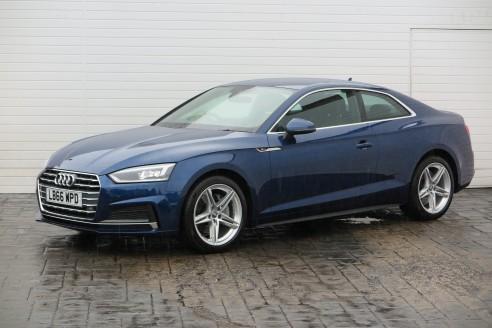 2017 Audi A5 2017 66 Audi A5 2.0 TDI S Line 190BHP S Tronic Diesel blue Semi Aut