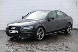 2012 Audi A4 2012 12 Audi A4 2.0 TDI S-Line Black Edition 136BHP Diesel black Ma