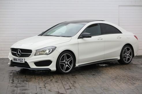 2014 mercedes benz cla 2014 14 mercedes cla class cla 180 amg sport 1 6 122bhp p in. Black Bedroom Furniture Sets. Home Design Ideas