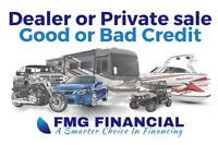 Dealer OR Private sale financing. Great, Good or Bad Credit.