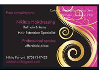 Hairdresser, extension specialist