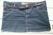Denim Mini Skirt Size 16