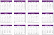 Calendar Mouse Mat