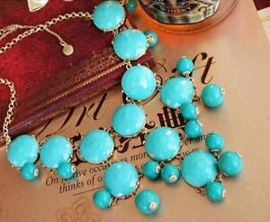 Green-j-crew-J-Crew-Auth-Bubble-Necklace-TURQUOISE-BLUE-RV-150-Freeshipping