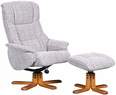 Recliner swivel chair and stool for sale
