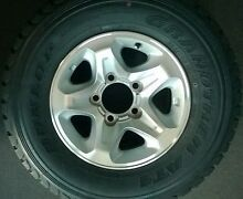5 Toyota Land Cruiser 70 series 16x7 alloy wheels and original ty North Curl Curl Manly Area Preview