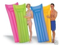 JOBLOT WHOLESALE Inflatable Lounger Lilo Float Swimming Pool Air BedMat 4 Colours