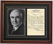 Warren Harding Signed