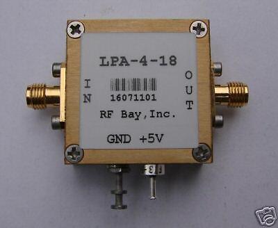 60-4000mhz Wideband Rf Amplifier Lpa-4-18 New Sma