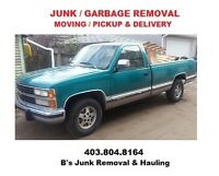 SMALL MOVES / PICKUP & DELIVERY / JUNK REMOVAL