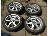 "Tecnocast corsia 17"" alloy wheels WANTED Gold or Silver Cash waiting .... Subaru Mitsubishi Toyota"
