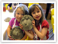 Kids Birthday Parties at Clay for Kids Pottery and fused glass