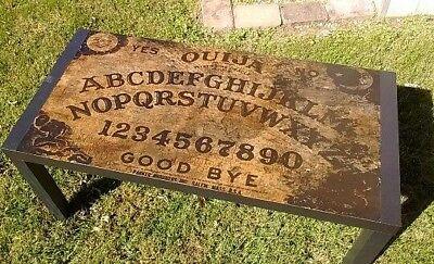 Custom Made Ouija Spirit Board Coffee Table New Gothic Wiccan Halloween Decor ()