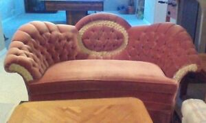 Love seat and chair.
