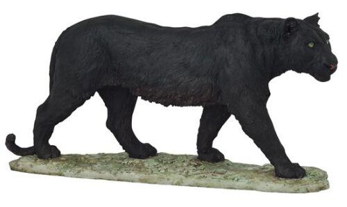 "17"" Black Panther Statue Figurine Safari Wildlife Wild Cat Animal Figure Nature"
