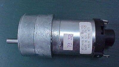 12 Volt Electric Gear Motor 32 Rpm By Ecm Motor Co. Model 5655
