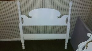 Head Board- Single- White solid wood- Shabby Chic Potential
