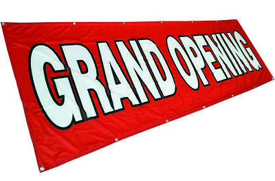 Grand Opening Banner Sign Vinyl Alternative Store Sale 3x10 Ft - Fabric Rb