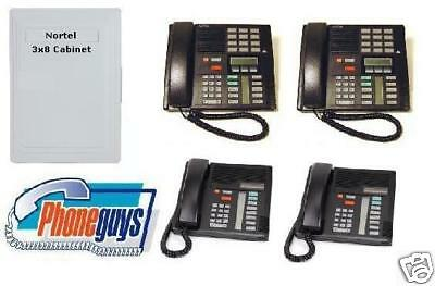 Small 2-4 Line Used Nortel 3x8 Business Phone System