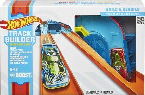 Hot Wheels Track Builder Unlimited Curve Kicker Pack Set Build Boost & Stunt