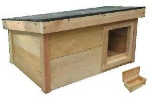 outdoor Cat Dog House puppy kitten Feral Pet kennel WARM shelter cedar MEDIUM-RS