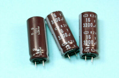 8pcs Nippon Chemi-con Kzh 3300uf 16v 105c Radial Electrolytic Capacitor