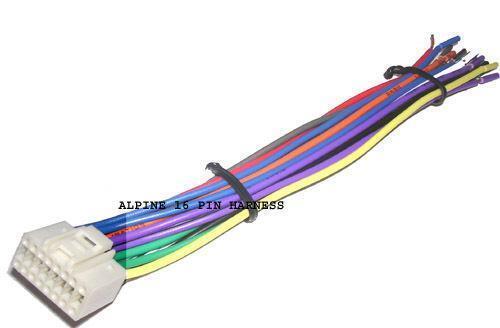 alpine cde 9872 wiring harness alpine ktp 445u wiring harness alpine wire harness | ebay