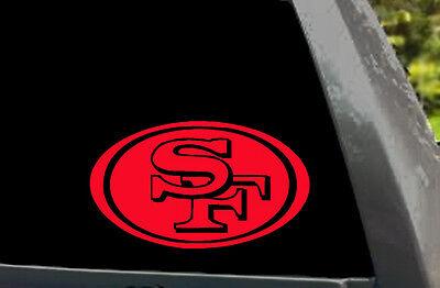San Francisco 49ers SF 49ers Logo Car Window Truck Laptop Vinyl Decal Sticker ()