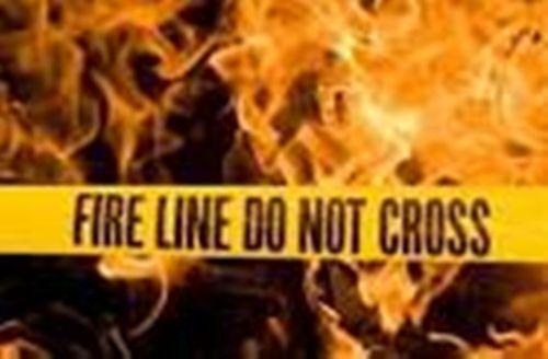 "FIRE LINE DO NOT CROSS - Bright Yellow Plastic Barrier Tape – 3"" X 20'"