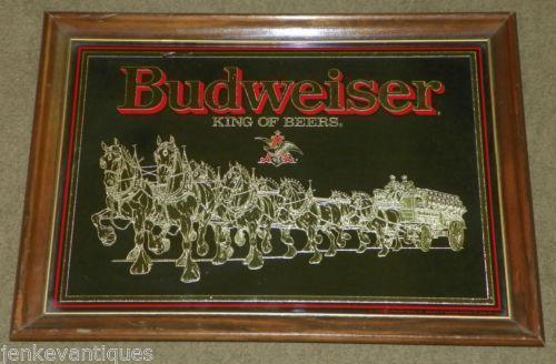 Budweiser Mirror Ebay