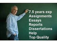 Academic essay coursework assignment dissertation PhD Master UK graduated help