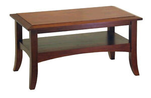 NEW Craftsman Coffee Table Living Room Hardwood Antique Walnut Books DVD Remote