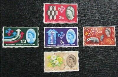 nystamps Great Britain Stamp # 387P//394P Mint OG H $30   L16x1782