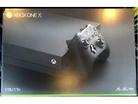 1 week old still sealed xbox one x no games