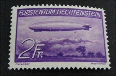 nystamps Liechtenstein Stamp # C16 Mint OG H $40   L23y640