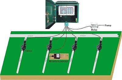 4 Zone Solar Powered Sprinkler Irrigation Controller Moisture Sensor Based Timer